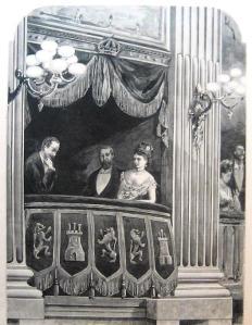 Palco del Teatro Real .