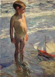El niño de la barquita - Joaquín Sorolla y Bastida (1904)