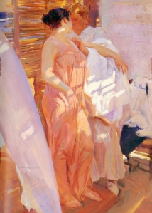 La bata rosa - Joaquín Sorolla y Bastida (1916)