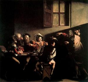 La vocacion de San Mateo - Caravaggio (Capilla Contarelli)