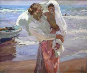 Saliendo del baño - Joaquín Sorolla y Bastida (1915)