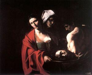 Salome con la cabeza del Bautista.