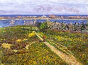 Darío de Regoyos - Los almendros en flor (1905) Óleo sobre lienzo Medidas 46 x 61 cm