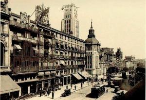 Calle Alcala en cuyo nº 19 se encontraba el Café Colón