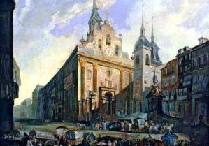 La Puerta del Sol hacia 1800