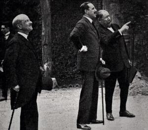 Benlliure con D. Alfonso XIII