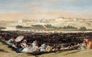 La pradera de San Isidro - Francisco de Goya.