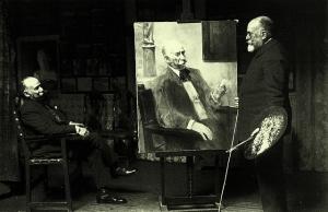 Mariano Benlliure en el estudio de su hermano José