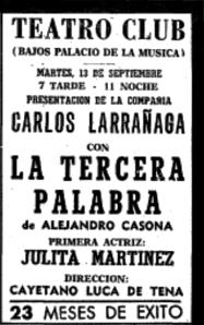 Palacio de la Música - Teatro Club 1