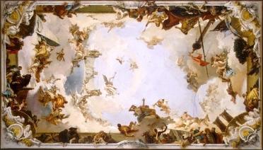 Boceto para el fresco que decora la Boveda del Salon del trono del Palacio Real.