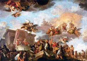 Cristóbal Colón ofreciendo el Nuevo Mundo a los Reyes Católicos - Antonio Gonzalez-Velazquez