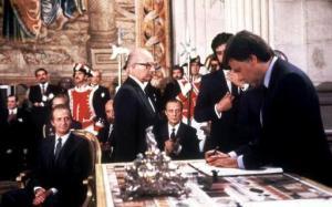 Firma del Tratado de Adhesión de España a la Unión Europea