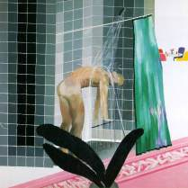 Hombre en la ducha en Beverly Hills - David Hockney