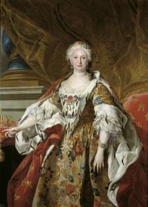 Isabel de Farnesio - Louis-Michel van Loo (c. 1739). Óleo sobre lienzo, 150 cm x 110,00 cm Museo del Prado (Madrid).