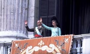 Juan Carlos I - Balcón Palacio Real