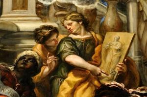 Detalle de la Anunciación de Claudio Coello