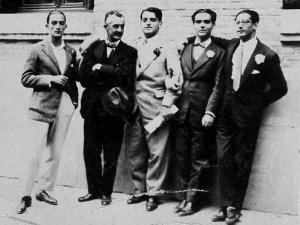 Federico García Lorca, Salvador Dalí y Luis Buñuel