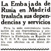 Hotel Palace - Embajada de la URSS
