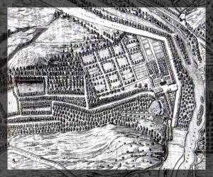 La Casa de Campo - Plano de Madrid de Pedro Texeira