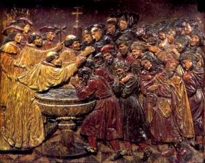La Conversion de los Moriscos - Retablo de Felipe Vigarny