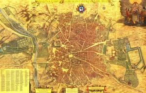 Plano de Madrid con la situacón exacta del Convento de san Placido
