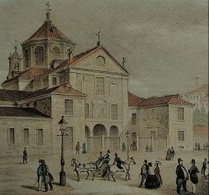 Real Monasterio de la Encarnación - Litrografía del S. XIX
