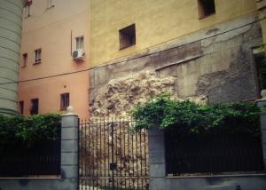 Restos de la 2ª muralla en la calle de los Mancebos, 3