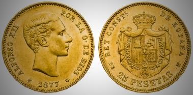 Alfonso XII - 25 pesetas