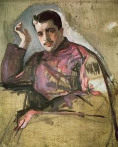 Diaghilev por Valentin Alexandrovich Serov