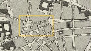 Plano de la zona de Tirso de Molina en 1831