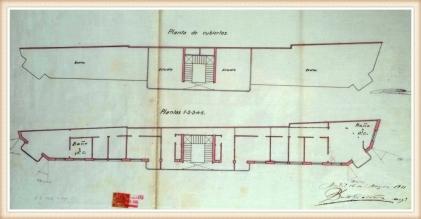 Plano de las plantas de la Casa de los Lagartos