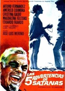 Cartel de la película Las cinco advertencias de Satanas, dirigida por José Luis merino en 1969