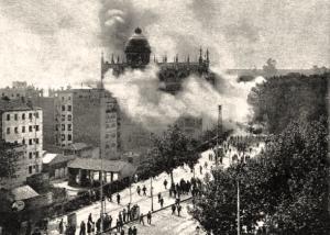 Incendio de la Iglesia de los Carmelitas de la plaza de España el 11 de Mayo1931