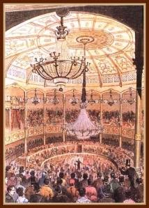 Interior del teatro Principe Alfonso antes de la construcción del escenario