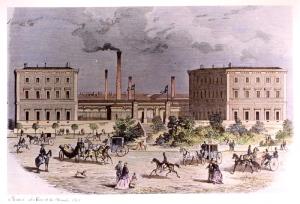 La Casa de la Moneda de la plaza de Colón - Grabado de 1865