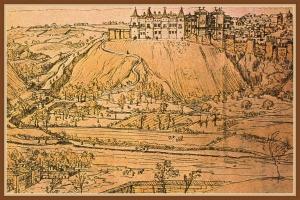 Madrid en el siglo XVI - Grabado de Anton Van den Wyngaerde
