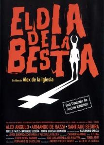 Cartel de la película El día de la bestia, dirigida por Alex de la Iglesia en 1995