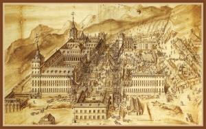 Obras de construcción del Real Monasterio de San Lorenzo de El Escorial (1576) - Colección particular del Marqués de Salisbury
