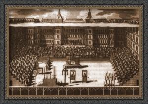 Auto de Fe en la Plaza mayor de Madrid hacia 1600