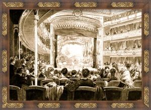 Inauguración del Teatro de la Comedia el 18 de septiembre de 1875
