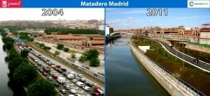Matadero ntes y después de Madrid Rio