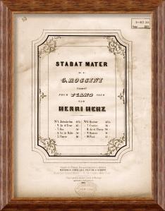Partitura del Stabat Mater de Rossini