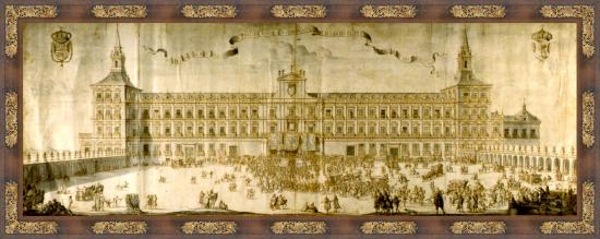 Aclamación de Felipe V en el Alcazar de los Austrias en 1701