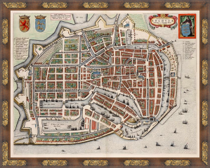 Enkhuizen - Topographia Enchusae (Cornelis Biens,1649)