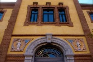 Instituto Provincial de Puericultura - Detalle de la fachada del pabellón principal