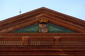 Instituto Provincial de Puericultura - Escudo republicano de la Diputación Provincial de Madrid