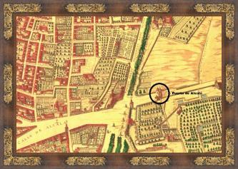 La Puerta de Alcalá en  la Topographia de la Villa descrita por Don Pedro Texeira. Año 1656
