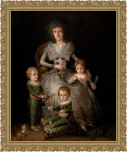 María Josefa Pimentel y Téllez-Girón, Duquesa de Osuna con sus hijos