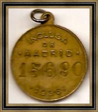Medalla identificativa de la Inclusa de Madrid (1936)
