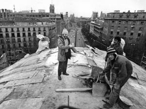 Puerta de Alcalá - Obras de rehabilitación y restauración en 1992